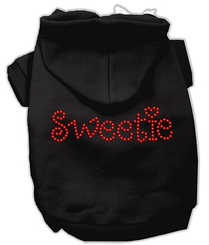 Sweetie Rhinestone Hoodies Black M (12)